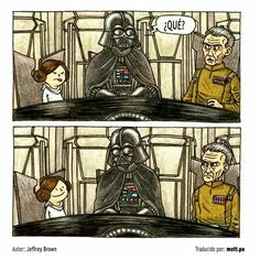Jeffrey Brown wrote and drew these adorable books Darth Vader and Son and Vader's Little Princess that show what it would be like if Darth Vader was actually a good dad! ♥ Here's a few of our favorite illustrations from the books. Star Wars Fan Art, Star Wars Meme, Star Wars Comics, Little Princess, Princess Room, Princess Star, Luke Skywalker, Darth Vader And Son, Princesa Leia