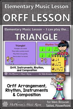 Elementary music students love to play non-pitched percussion instruments especially the triangle! Review rhythm and have fun with this song, lesson plan and Orff arrangement. Lots of engaging music activities for multiple grade levels. Check it out. #elementarymusic #orff Teaching Music, Music Teachers, Music Class, Music Education Activities, Elementary Music Lessons, Flute Problems, Band Problems, Music Lesson Plans, Disney Movies
