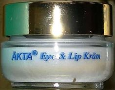 Gunilla of Sweden AKTA Eye and Lip Kram by Gunilla Of Sweden. $40.00. enriched with Antioxidants and Natural Herbs that improve and protect the delicate EYE and LIP areas.. Total Anti-Aging Eye Cream. Vitamin K for Dark circles. Prevention of Fine Lines and Puffiness. ÄKTA ® Eye and Lip KRÄM is formulated specifically to prevent the appearance of fine lines and puffiness: while helping to reduce the aging process of this delicate skin.  ÄKTA ® Eye and Lip KRÄM is fortifi...