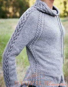 Женский пуловер «Harley» - Вязание - Страна Мам