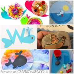 20 The Snail and The Whale Craft Ideas and Activities Julia Donaldson Books, Snail And The Whale, Whale Crafts, Measurement Activities, Decorated Flower Pots, Reading Worksheets, Dollhouse Kits, Paper Plate Crafts, Process Art