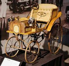 antique pedal car on display at the America on Wheels Museum, Allentown, PA.