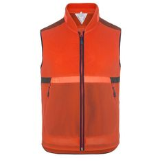 Paul Smith Men's Gilets | Orange 531 Windproof Mesh Paneled Gilet