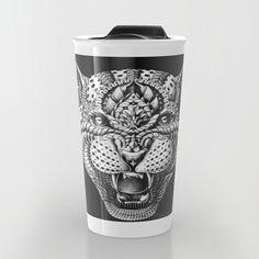 """Leopard"" Travel Mug by BIOWORKZ on Society6."