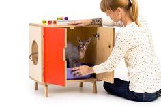 The MINI Cabinet /// Mid Century Modern Pet by modernistcat