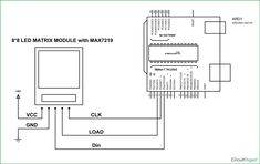 circuit diagram for scrolling text display on 8x8 led