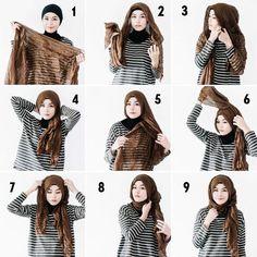 hijab styles step by step,abaya designs,abaya fashion,hijab style to wear a hijab in different styles,hijab styles step by step with pictures Easy Hijab Style, Hijab Turban Style, Hijab Style Tutorial, Simple Hijab, Scarf Tutorial, Hijab Outfit, Stylish Hijab, Modern Hijab, Islamic Fashion
