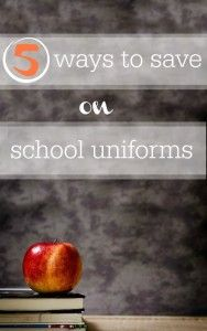Are school uniforms on your list this year?  Check out these 5 ways you can save money on school uniforms.