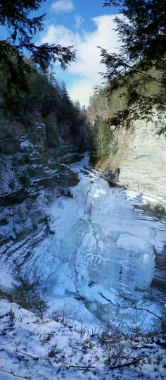 115-foot Lucifer Falls at Robert H. Treman State Park. Ithaca, NY http://nysparks.com/parks/135/details.aspx