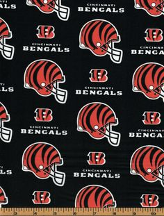 Cincinnati Bengals Fabric- NFL - Cotton High Quality Fabric- by Fabric Traditions by QuiltsOnTheFly on Etsy Official Nfl Football, Cincinnati Bengals, Scrub Hats, Panthers, Bandana, Printing On Fabric, Cap, Cotton, Etsy