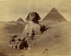 1860s-1880s: The Middle East by Félix Bonfils - Sphinx http://www.retronaut.com/2012/11/the-levant-by-felix-bonfils/