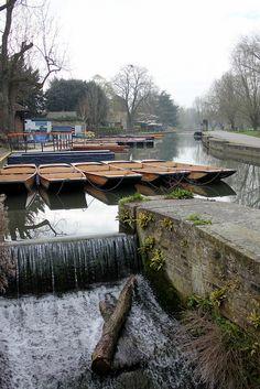 Scudamore's Boatyard on the River Granta, Cambridge.