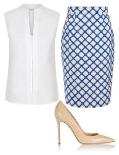 """Лук 3"" by irinatcisarskaia on Polyvore featuring Hobbs, Jonathan Saunders and Gianvito Rossi"