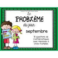 Le problème du jour (mathématique) - septembre