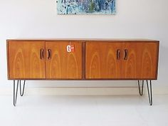 Upcycled-Retro-Vintage-G-Plan-Sideboard-Mid-century-with-Hairpin-legs