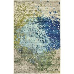Found it at Wayfair - Barcelona Blue Area Rug - idea for living room