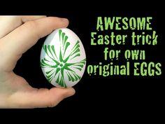 Originální Velikonoční vajíčka zdobená voskem - YouTube