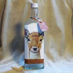 Poľovnícka fľaša Srnček a líška