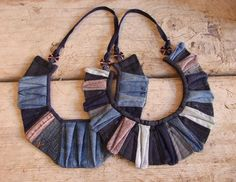 recycled Denim Necklaces