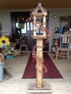 Solar Lantern Welcome Post / https://www.facebook.com/pages/The-Liberty-Bell-Craft-Antique-Store-LLC/350510934993863