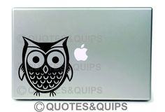 adorably cute owl owly LAPTOP DECAL