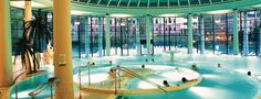 Caracalla Therme thermal spa in Baden Baden, Germany. €14-20 for 2-4 hours.