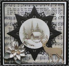 Tiny's Kaarten Blue Christmas Decor, Handmade Christmas, Christmas Crafts, Fancy Fold Cards, Folded Cards, Beautiful Christmas Cards, Bday Cards, Embossed Cards, Marianne Design