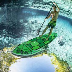 Tortuga Paddleboard by Caribe SUP #board, #innovativedesign, #paddle