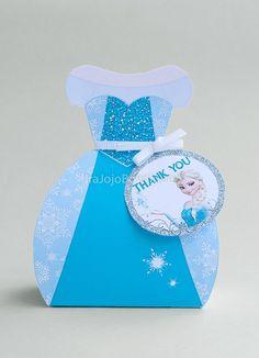 NEW ELSA Frozen Gift Box Favor Box Printable by IraJoJoBowtique