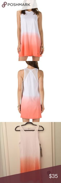 VANS JUPITER TANK DRESS brand new with tags // cute and comfy // ombré style! // mesh back Vans Dresses Midi