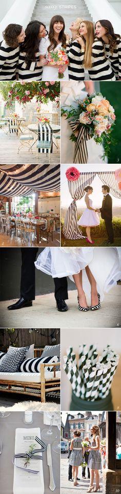 Black White Stripe Wedding Ideas - crushing on stripes right now!!