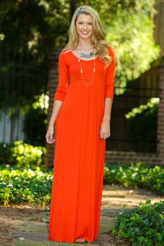 Roll Call Maxi Dress-Burnt Orange - Back to School - Shop By Trend | The Red Dress Boutique