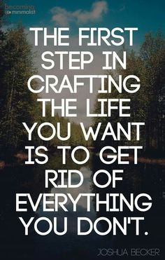 Get rid of everything you don't want.