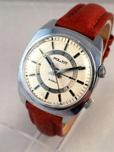 Vintage Gent's watch Flight  Poljot Alarm. Rare by SovietEmpire