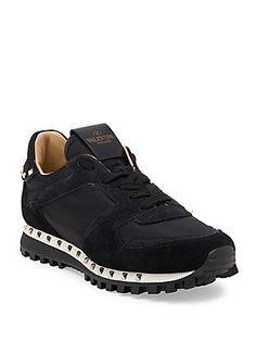 45d48b51e3b22 Valentino Garavani - Studded Sneakers. Valentino Garavani SneakersValentino Shoes  SneakersSuede ShoesLace Up ShoesWomen s ...