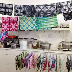 itajime shibori workshop at Textile Arts Center, #delvefabrication
