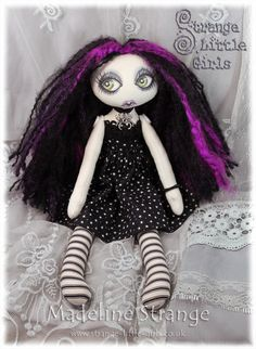 Madeline Strange - a OOAK Gothic art doll by Jo Hards  www.strange-little-girls.co.uk  EBSQ ArtDollsOnly