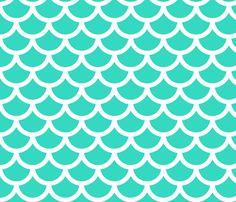 Mermaid - Ocean Fabric by gingerme on Spoonflower - custom fabric