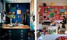 bohemian kitchen gallery wall