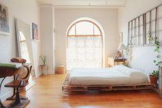 Bett-Holz Paletten bauen - Wohnideen- Magazin für Innenarchitektur, Architektur, Dekoration