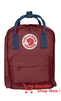 Fjallraven Kånken Kids Backpack Ox Red/Royal Blue - Fjallraven Alligators, Clovers, Recliners, Bellini, Nassau, Taipei, Cool Stuff, Stuff To Buy, Royal Blue
