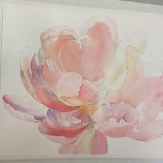 Watercolor Beginner, Watercolor Painting Techniques, Watercolor Video, Oil Painting Flowers, Watercolour Tutorials, Abstract Watercolor, Watercolor Flowers, Painting & Drawing, Watercolor Paintings