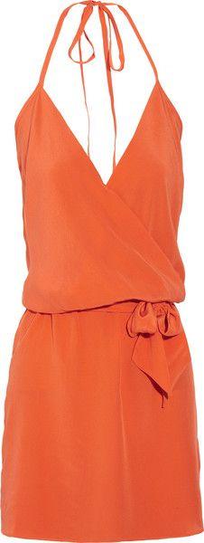 ShopStyle: Haute Hippie Silk-georgette wrap-effect dress Cute Dresses, Cute Outfits, Summer Dresses, Loose Dresses, Wrap Dresses, Beautiful Dresses, Short Dresses, Mode Style, Style Me