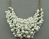 FREE SHIPPING - New Fashion Jewelry handmade 5 strands Pearl Necklace, party wedding necklace. gift necklace