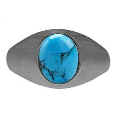 Oval-Cut Turquoise Custom Men's Pinky Ring In Black Rhodium Plated White Gold Gemologica.com offers a unique selection of mens gemstone and birthstone rings crafted in sterling silver and 10K, 14K and 18K yellow, white and rose gold. We have cool styles including wedding and engagement rings, fashion rings, designer rings, simple stone and promise rings. Our complete jewelry collection of gemstone rings for men can be seen here: www.gemologica.com/mens-gemstone-rings-c-28_46_64.html