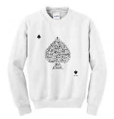 Poker Hand Values Sweatshirt SN