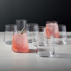 Shop Neat Double Old-Fashioned Glass Set of Clear choice for everyday drinkware. Eight micro-thin double old-fashioned glasses with subtly tapered shams hold cocktails with stiff simplicity. Pair set with the Neat cooler and tasting glasses. Modern Cocktail Glasses, Cocktail Glassware, Modern Wine Glasses, Cranberry Vodka, Grey Mugs, Clear Vases, Old Fashioned Glass, Stemless Wine Glasses, Drinking Glass