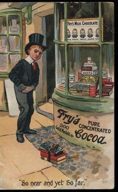 Early Fry's Cocoa Advertising Postcard
