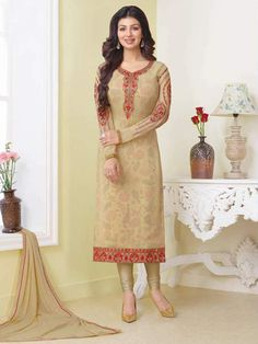 Indian designer bollywood salwar kameez straight churidar suit for women party #Handmade #salwarkameez