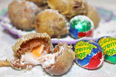 Insanity! Fried Mini Cadbury Creme Eggs... like nothing you have ever tasted before!